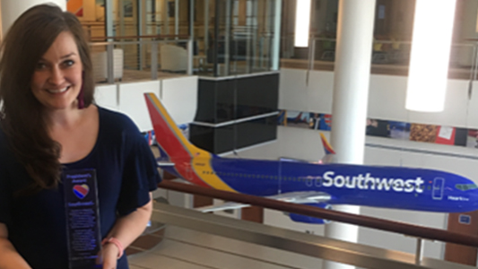 SAGU Alumna Wins President's Award from Southwest Airlines
