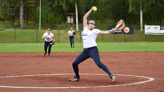 SAGU Alumna Pitches for Pro Softball Team, the Skövde Saints, in European Cup