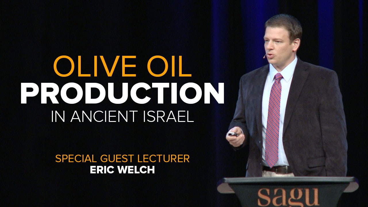 Eric Welch, Ph.D candidate and lecturer in Jewish Studies, discusses the ancient process used in producing Olive Oil.